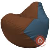 Г2.3-0736 коричневый и голубой