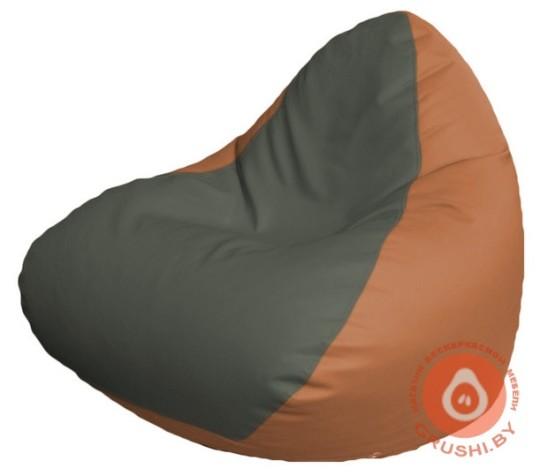 Р2.3-104 релакс кожа сид серая +бок оранж