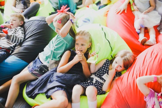 детская бескаркасная мебель на фестивале Буу!Фест